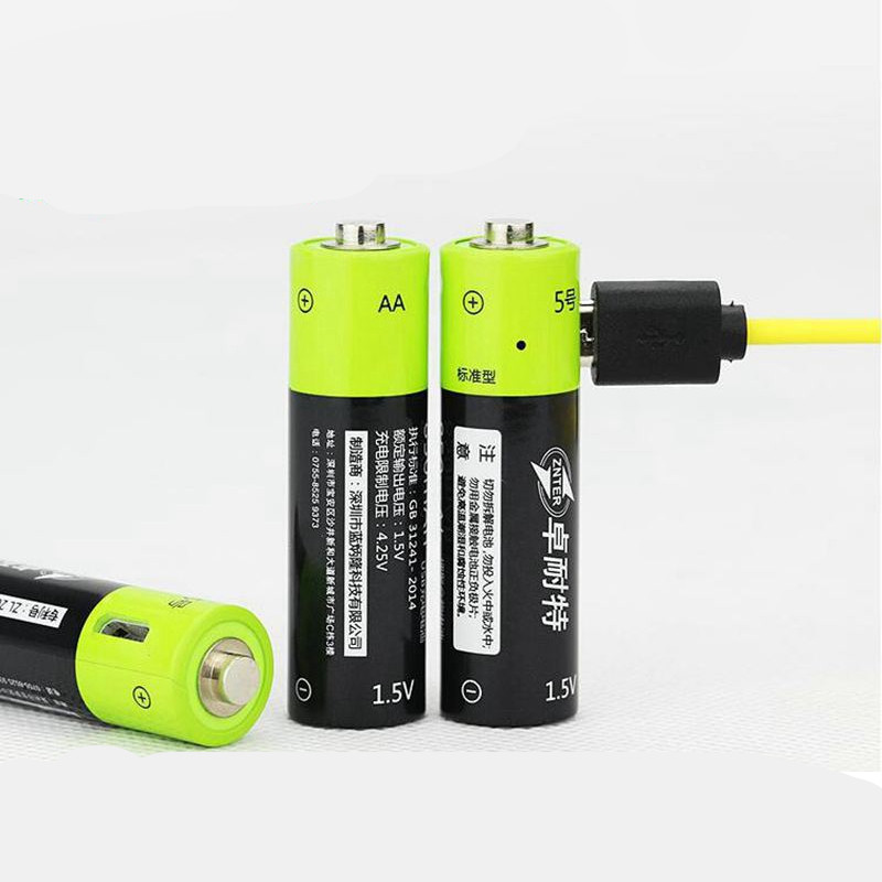 Image 4 - ZNTER 1.5V AA 1250mAh li polymer Rechargeable Battery micro usb charging 1.5v batteriesRechargeable Batteries   - AliExpress