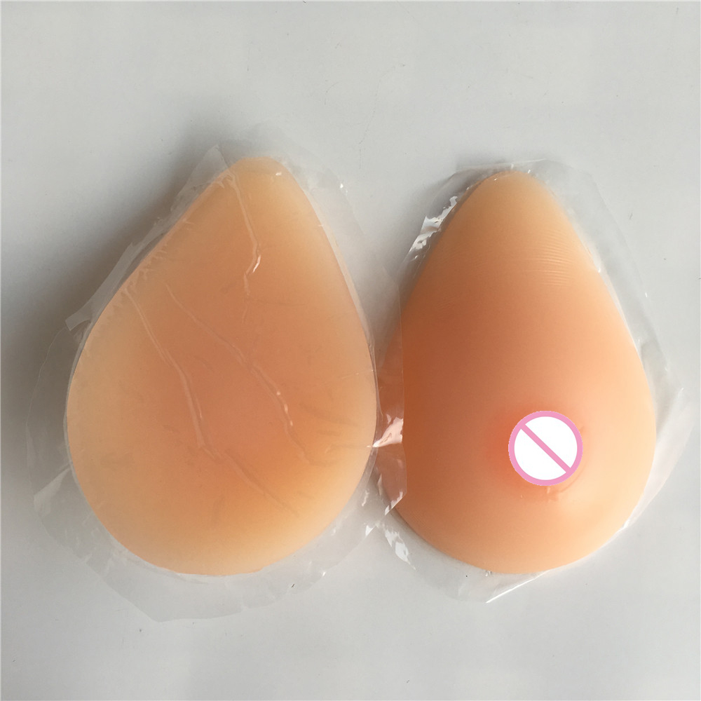 36B cup M size 600 g self adhesive artificial breasts silicone fake boobs for crossdresser nude skin suntan two colors