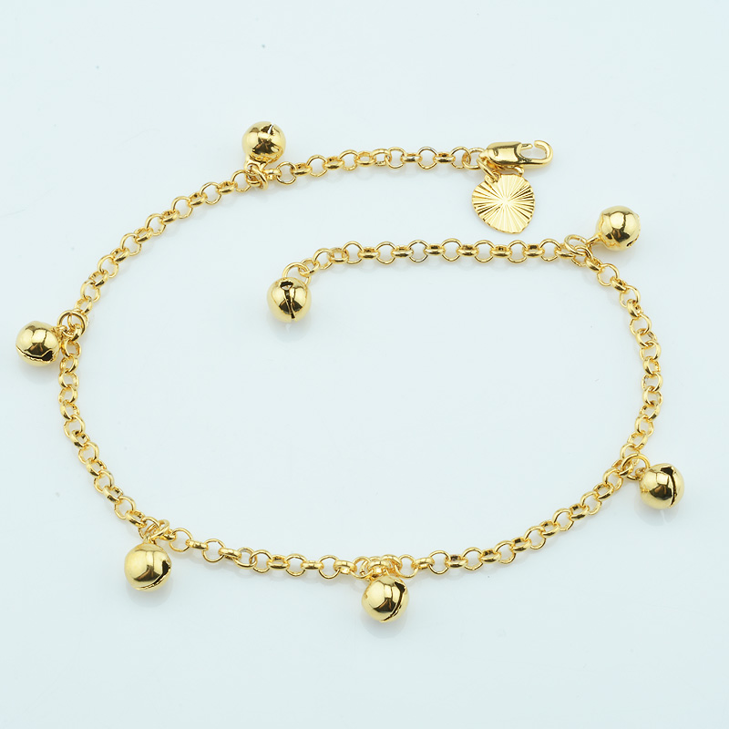 bracelet yellow anklet p gold set