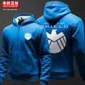 Avengers thick cardigan thicken hoodie Sweatshirts jacket zipper fleece S.H.I.E.L.D. clothes for men and women