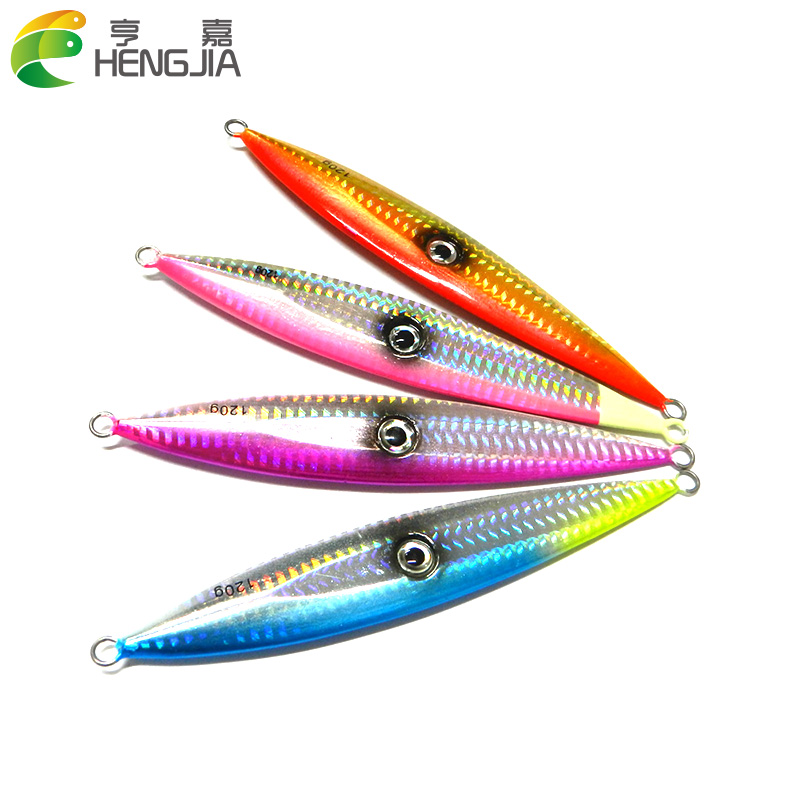 4PCS Metal Lure 15.3cm Fishing Bait Lead fish Metal Jig Fishing Lure Paillette knife Wobbler Artificial Hard Bait Jigging Lure