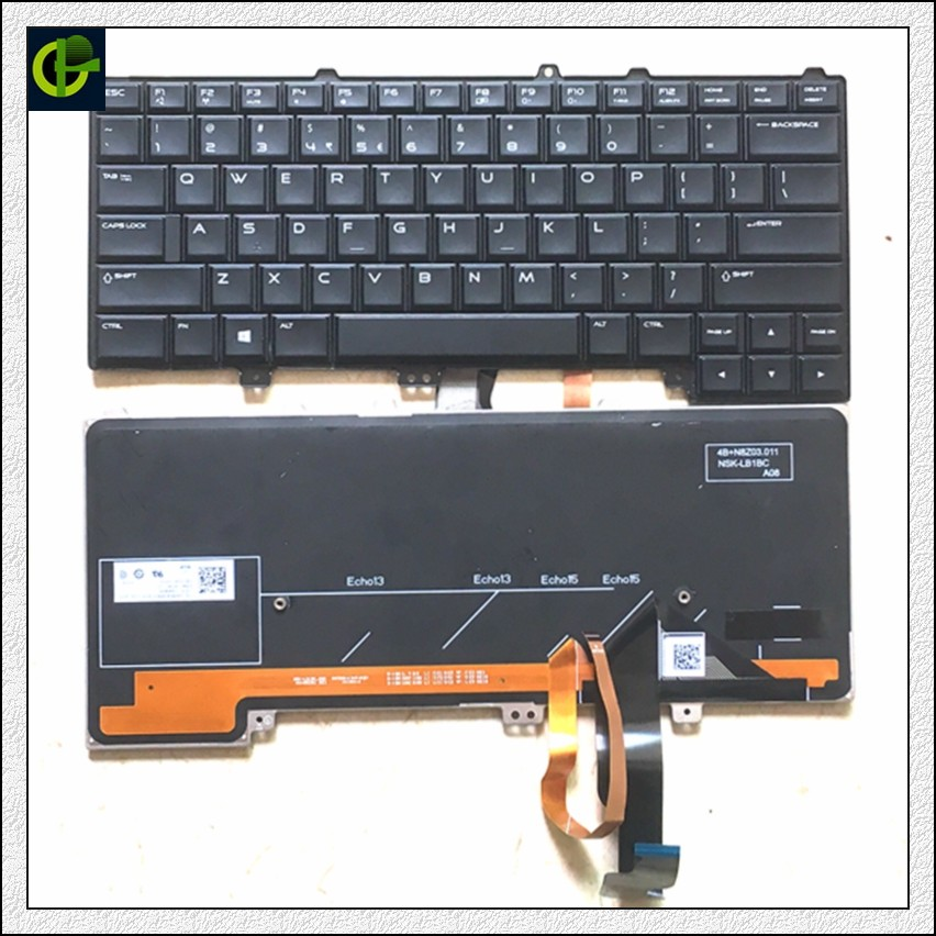 English Backlit Keyboard For DELL Alienware 13 R1 R2 15 R1 R2 R3 R4 M13X M15X 04K8F6 0P30HM NSK-LB1BC US Laptop