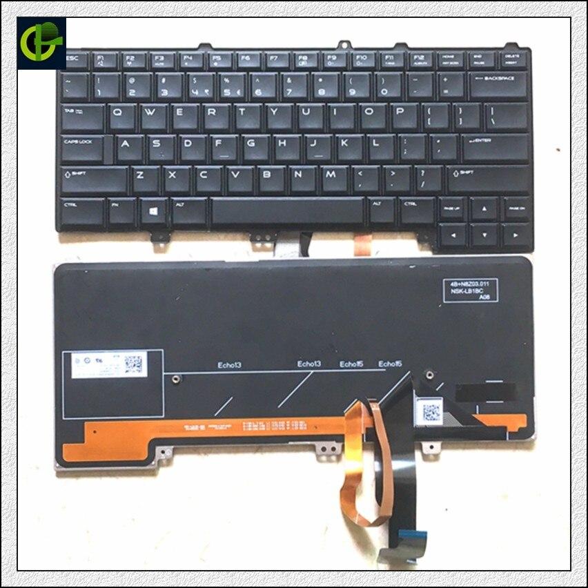 English Backlit Keyboard for DELL Alienware 13 R1 R2 15 R1 R2 R3 R4 M13X M15X 04K8F6 0P30HM NSK LB1BC US laptop