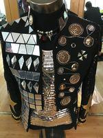 2016 Большие размеры S 4XL Мужская куртка серебра ручной работы Зеркала со стразами Дизайн этап одежда Блейзер Пальто Производительность Певиц