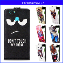 Factory price Fashion Patterns Cartoon Luxury Flip up and down PU Leather Case for Blackview E7,Free gift