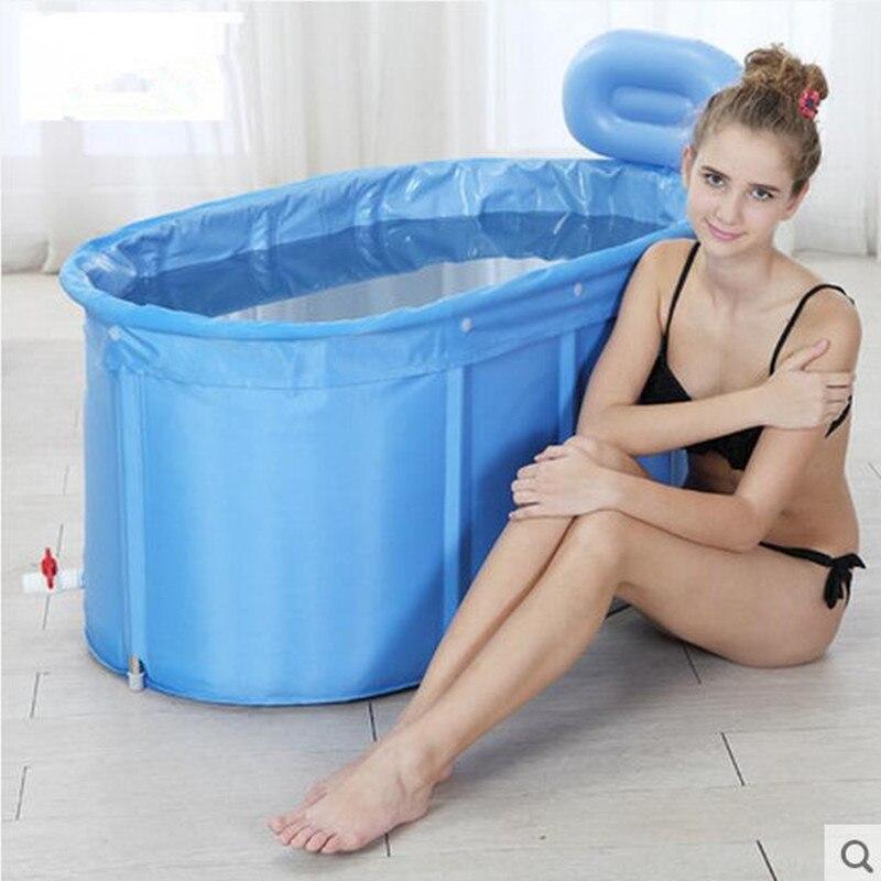 Oval cotton padded double layer insulation Large folding bathtub ...
