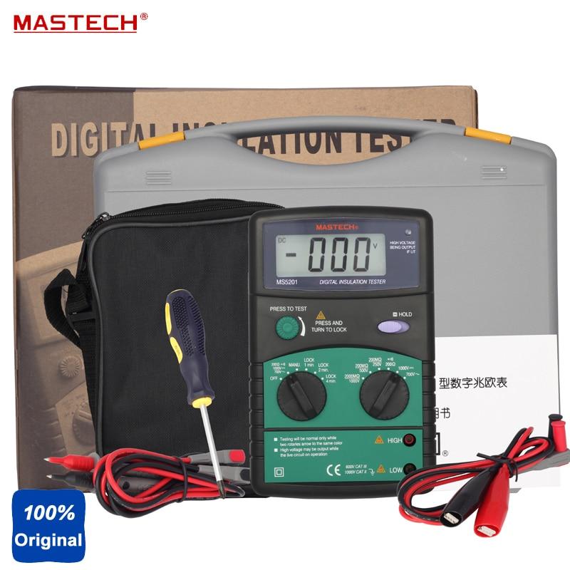 MASTECH MS5201 3 LCD Digital Mega Ohm Insulation Tester цена