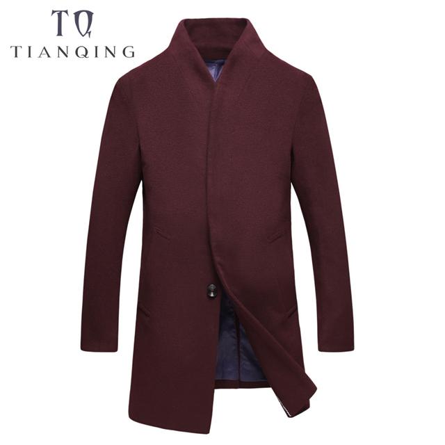 TIAN QIONG Men's Autumn and Winter Woolen Coat Thickening Fashion Long Woolen Jacket Men's Casual Fashion Jackets Men Overcoat
