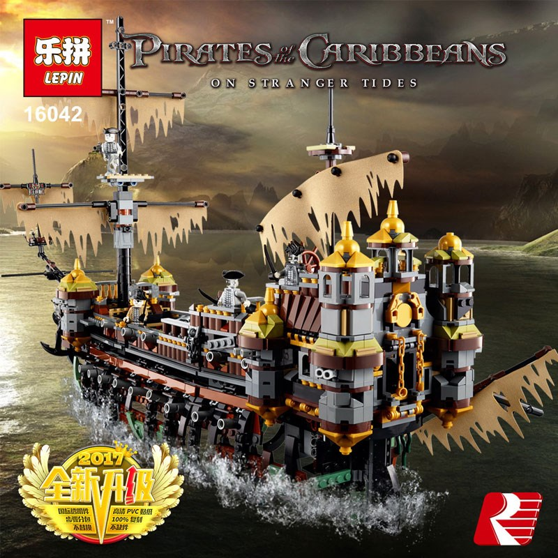 Lepin 16042 2344Pcs Pirate Ship Series legoing Slient Mary Set Children Educational Building Blocks Bricks Toys Model Gift 71042 lepin 16042 pirate ship series the slient mary set legoingys 71042 children educational building blocks bricks toys gift