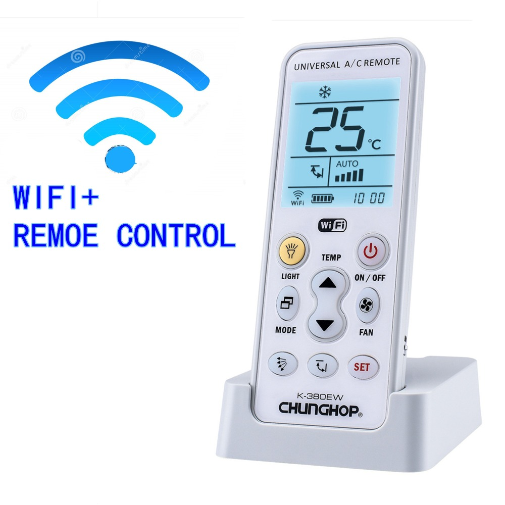 NEW WIFI Universal A/C controller Air Conditioner conditioning remote control CHUNGHOP K-380EW chunghop rm l7 multifunctional learning remote control silver