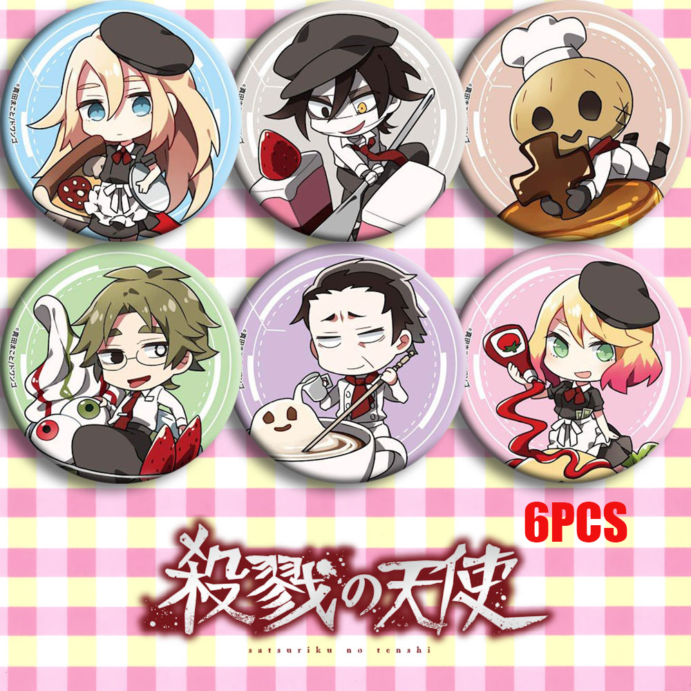 Japan Anime Angels Of Death Rachel Gardner Zack Cosplay Party Bedge Cartoon Collect Bags Badges For Backpack Button Brooch Pin