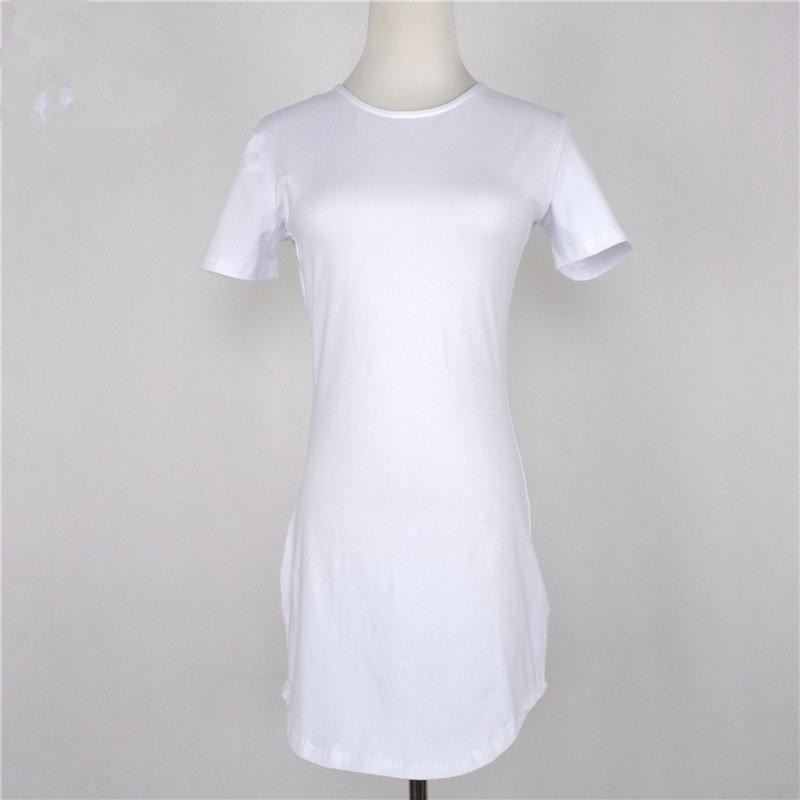 499a6d7d81 Weekeep 2017 Women Causal Summer Dresses Cotton Black/White Open Side Beach  Dress Robe Femme Jurken Vestidos-in Dresses from Women's Clothing on ...