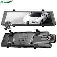 GreenYi Car Black Box DVRs 10 Full 3G Android GPS Navigators FHD 1080P Dashcam Rearview Mirror Wifi Streaming Media Rear