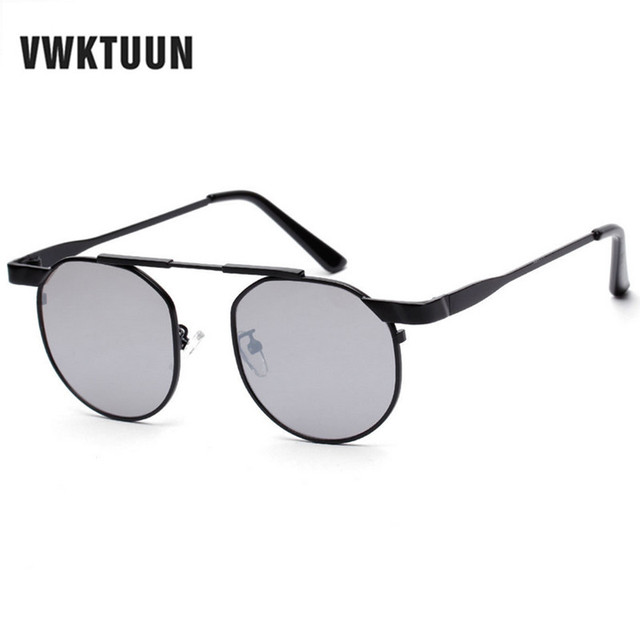 fb7cda6c15 VWKTUUN Steampunk Womens Sunglasses Vintage Round Sun Glasses For Men  Mirror Glasses Korean Sunglases Male Sport Eyewear UV400
