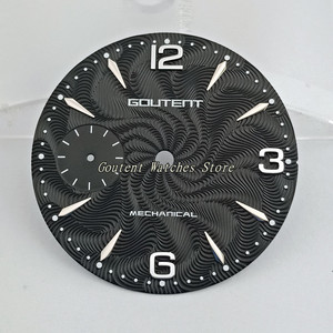 "Image 2 - 36.8 מ""מ Goutent שעון חיוג ערכת ETA 6497, שחף st36 מכאני גברים של שעון פרצופים (6 סגנונות של פרצופים)"