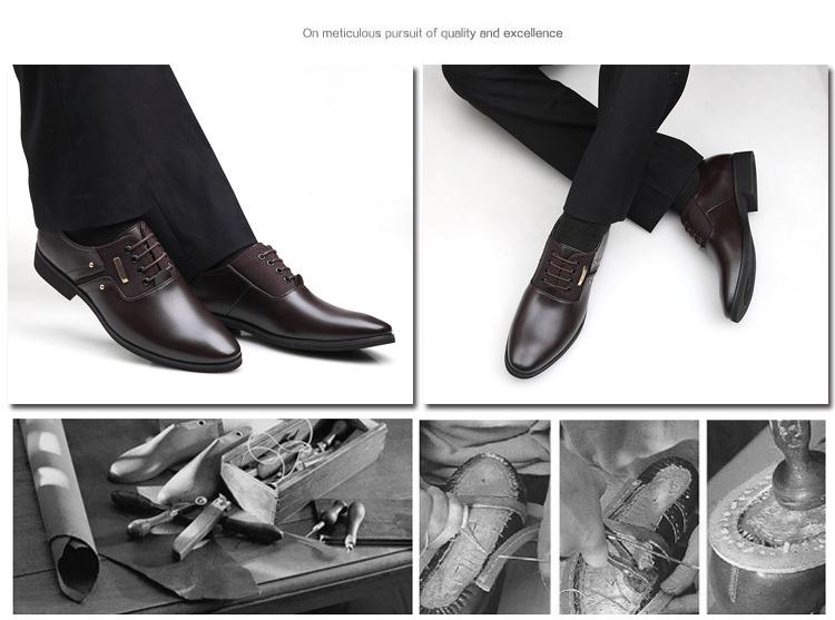 NPEZKGC Men Dress Shoes Slip-on Black Oxford Shoes For Men Flats Leather Fashion Men Shoes Breathable Comfortable Zapatos Hombre 7