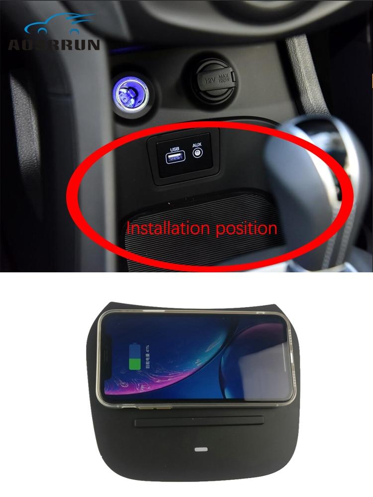 For Hyundai Santa Fe IX45 QI Auto Wireless Charging 10W Quick Charging Car Accessories 2015 2016 2017 2018