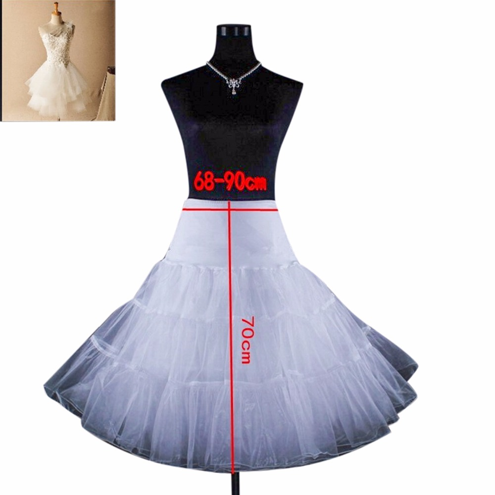 Cheap Wedding Accessories Petticoat Vestido Longo Short Crinoline Underskirt Hoop Skirt Colored Petticoats Free Shipping