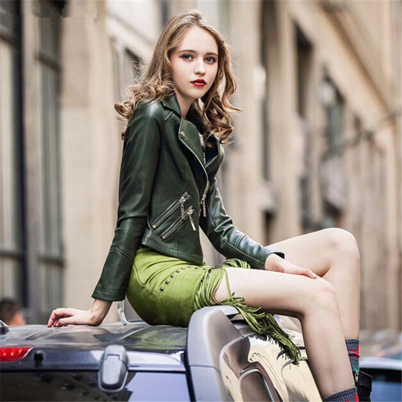 Online Get Cheap Green Leather Jacket -Aliexpress.com   Alibaba Group