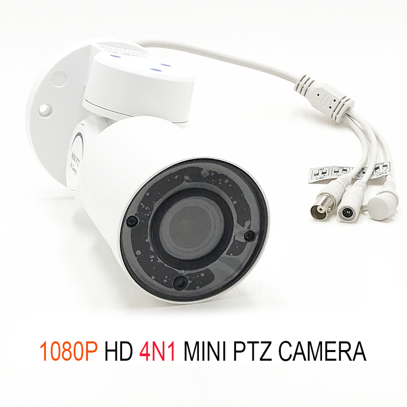 2.0M AHD/CVI/TVI/CVBS Mini PTZ Surveillance Camera Outdoor Waterproof Security Metal CCTV Cam with Pan Tilt Zoom sony IMX323 1080p ptz dome camera cvi tvi ahd cvbs 4 in 1 high speed dome ptz camera 2 0 megapixel sony cmos 20x optical zoom waterproof