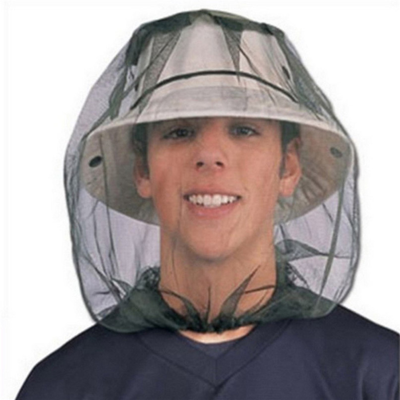 Mosquito Head Net Mesh Face Protector Cap Insect Bee Sun Fish Hat Fishing  Clothings accessories outdoor hiking camping 2017-in Fishing Clothings from  Sports ... 343924f032da