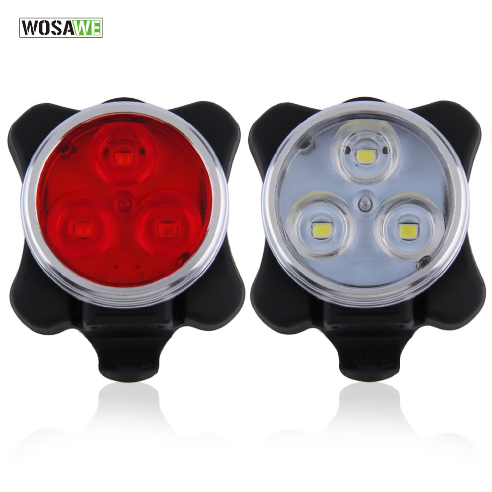 WOSAWE Built-in battery Bicycle Tail Light 4 modes Rechargeable USB LED Bike Light Flashlight With Mount Bicycle Accessories usb flashlight cree xml t6 led bicycle light waterproof built in battery flash light head front cycling bike light bike mount