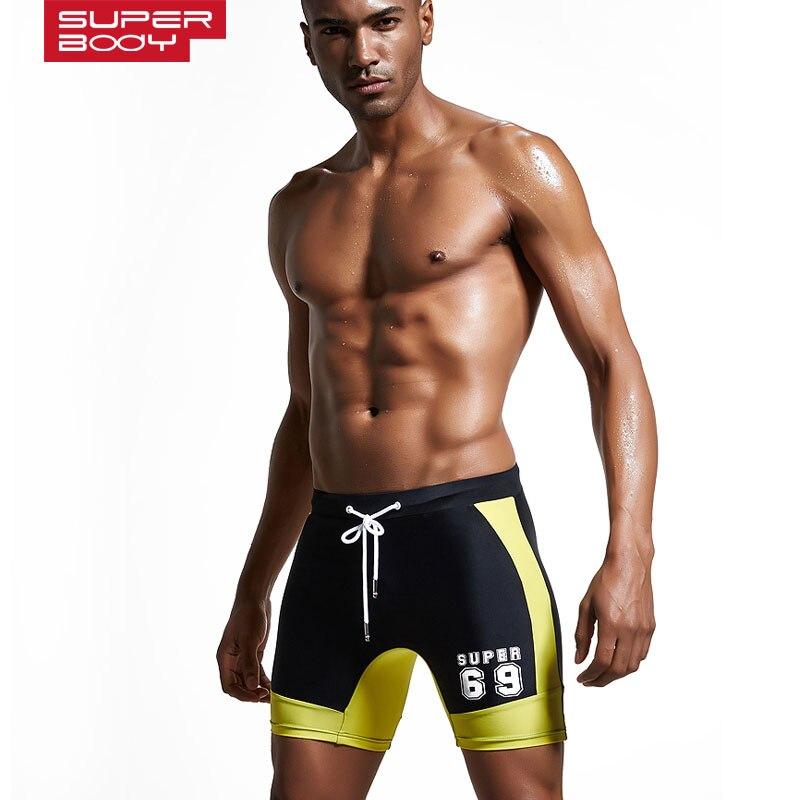 Erkek mayo spor uzun Yüzmek gövde kısa plaj cebi ile erkek boxer - Spor Giyim ve Aksesuar - Fotoğraf 2