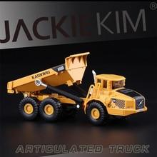 1: 87 сплав шарнирный самосвал модели грузовиков игрушки Высокая симитация Сплав Инженерная модель автомобиля Металл литья под давлением детские игрушки подарки