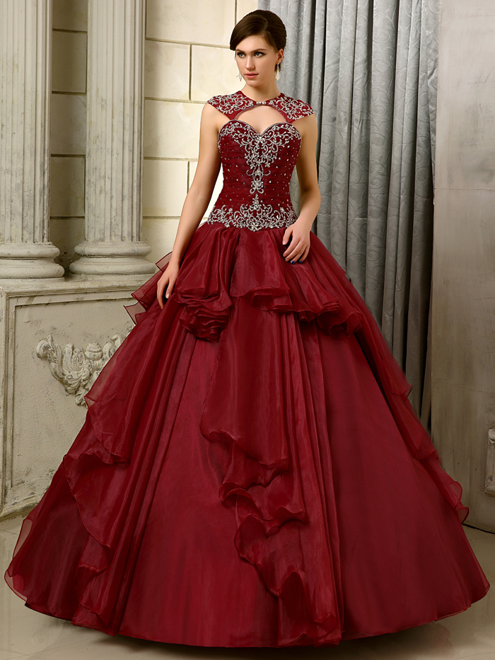 2016 big ball gown gowns burgundy long floor length for Wedding dresses near me now