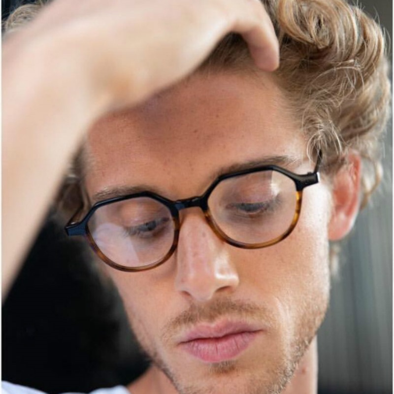 NEW Retro Polygonal Men Glasses Frame Prescription Glasses Eyeglasses For Women Eye Glasses Frames For Men