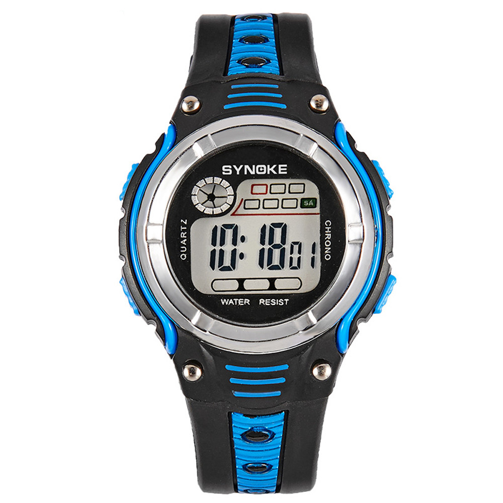 Children's Watches #5001synoke Waterproof Children Boys Digital Led Sports Alarm Date Watch Dropshipping New Arrival Freeshipping Hot Sales Structural Disabilities