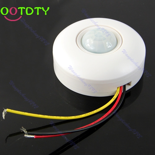 IR Infrared Motion Sensor Lamp Ceiling Wall Automatic Light Control Switch White  828 Promotion стоимость