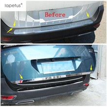 Lapetus Accessories Fit For Peugeot 5008 GT 2017 2018 2019 Rear Back Trunk Lid Tailgate Door Handle Molding Boot Cover Kit Trim