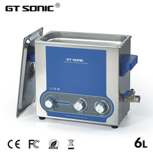 GTSONIC Ultrasonic Cleaner Bath 6L Power Adjustable 45 150W Jewelry Ring Watches Glasses Manicure Denture Necklace Tool Parts