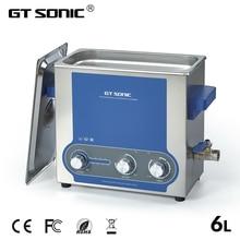 Gtsonic 초음파 청소기 목욕 6l 전원 조절 45 150 w 보석 반지 시계 안경 매니큐어 틀니 목걸이 도구 부품