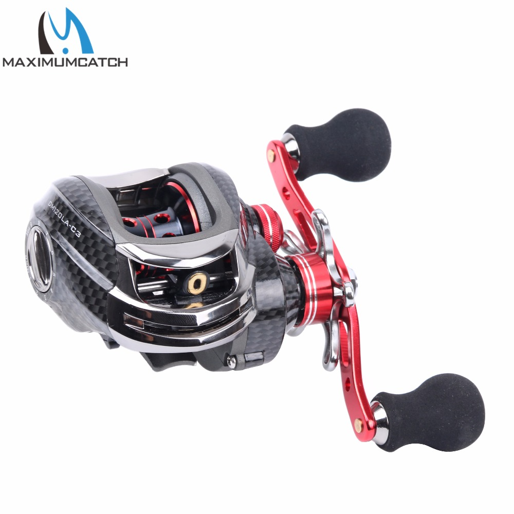 Maximumcatch DM-120 Baitcasting Reel 11+1BB Ball Bearing Carp Fishing Reel Right Left Hand Bait Casting Fishing Reel baitcasting fishing reel 14bb 7 0 1 right left hand bait casting spinning lure wheel carp moulinet peche carretilhas de pescaria