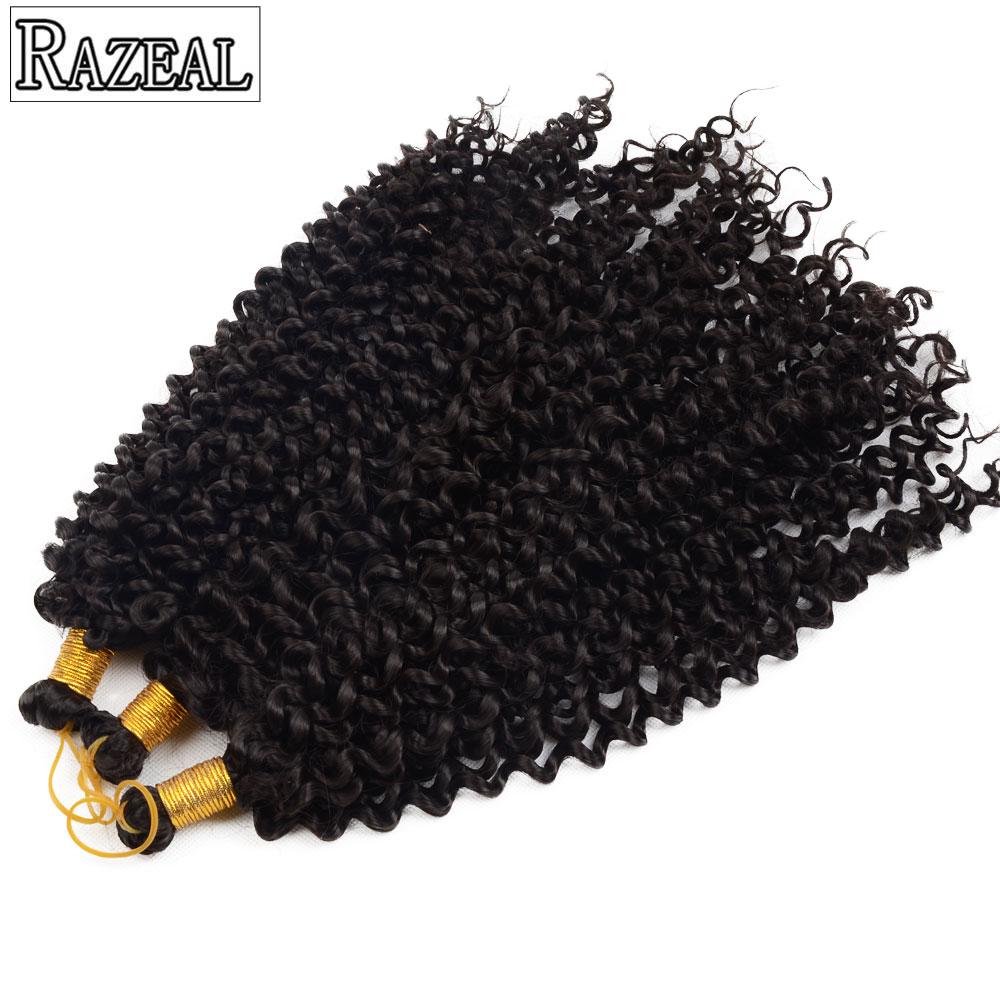 Razeal Crochet Hair Extension Bohemian Freetress Crochet Braids Svart Grå Syntetisk Braiding Hair High Temperature One Piece