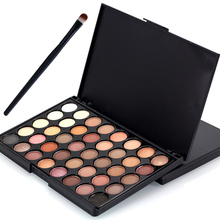40 Color Matte Eye shadow Pallete + 1 Brush Make Up Palette EyeShadow Makeup Pallete Glitter Waterproof Long Lasting Cosmetics