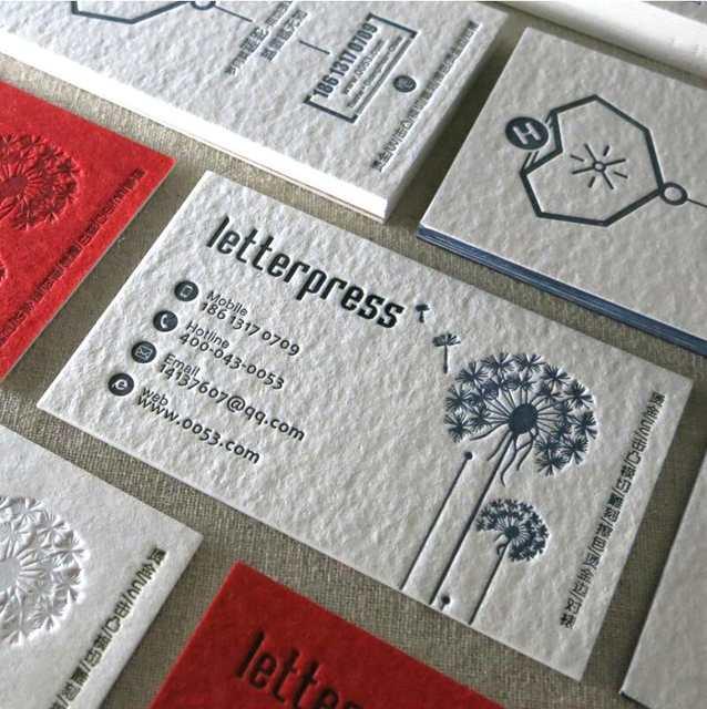 China Lieferanten Billig 600gsm Baumwolle Papier Prägung