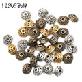 Wholesale 100pcs Spacer Charms Mixed Color Tibetan Silver Metal Spacer Beads 6mm for Jewelry Making Fast Shipping