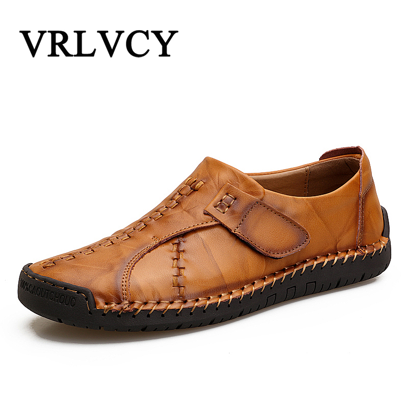 Breathable Men Casual Shoes Fashion Male Shoes High Quality Men Genuine Leather Shoes Slip On Men Leather Loafers
