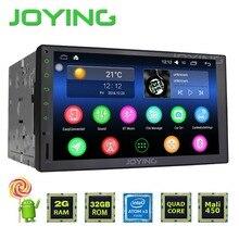 Joying 2 gb + 32 gb uniwersalny nowy android 5.1 car audio stereo gps 3g wifi bluetooth radio motoryzacyjny quad przewód hd odtwarzacz multimedialny