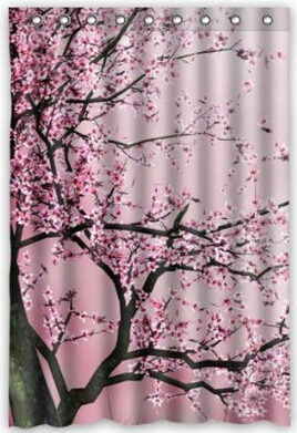 Shower Curtains cherry blossom shower curtains : 48 Long Curtains - Best Curtains 2017