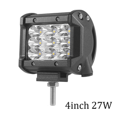 ECAHAYAKU 1Pcs 27W 4 inch 6.5 54W 3-Row LED Light Bar Spot Beam For Offroad Work Lights Truck ATV SUV 4WD 4x4 driving lamp