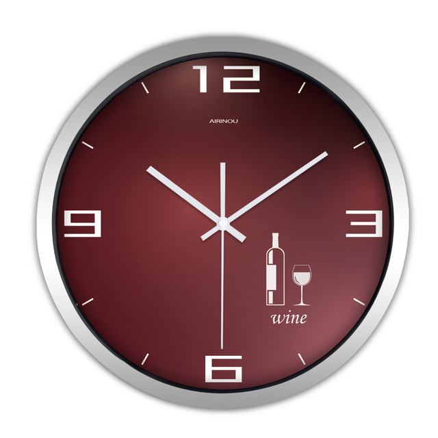 Digital Wall Clocks Modern Design Home Watch Decorative Electronic Silent Classic Reloj Vintage Kitchen Metal Wall Clock QQN479