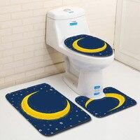 wc toilet seat cover toilet accessories 3pcs Non-Slip  Bath Mat Bathroom Kitchen Carpet Doormats Decor toilette toilet cover