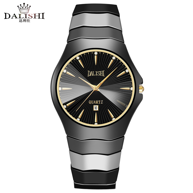 DALISHI Top Brand 100% Ceramic Men Watch Fashion Casual Simple Style Male Quartz Watch 30m Swimming Calendar Clock Reloj Mujer dalishi brand ceramic ladies charm watch fashion casual reloj mujer quartz watches fashion business male clock montre homme