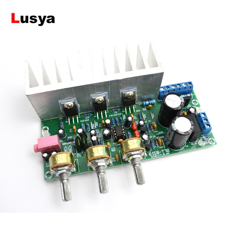 60W Subwoofer Power <font><b>Amplifier</b></font> Board TDA2050+<font><b>TDA2030</b></font> <font><b>Amplifiers</b></font> Board With Heatsink 18W+18W+32W D5-006 image