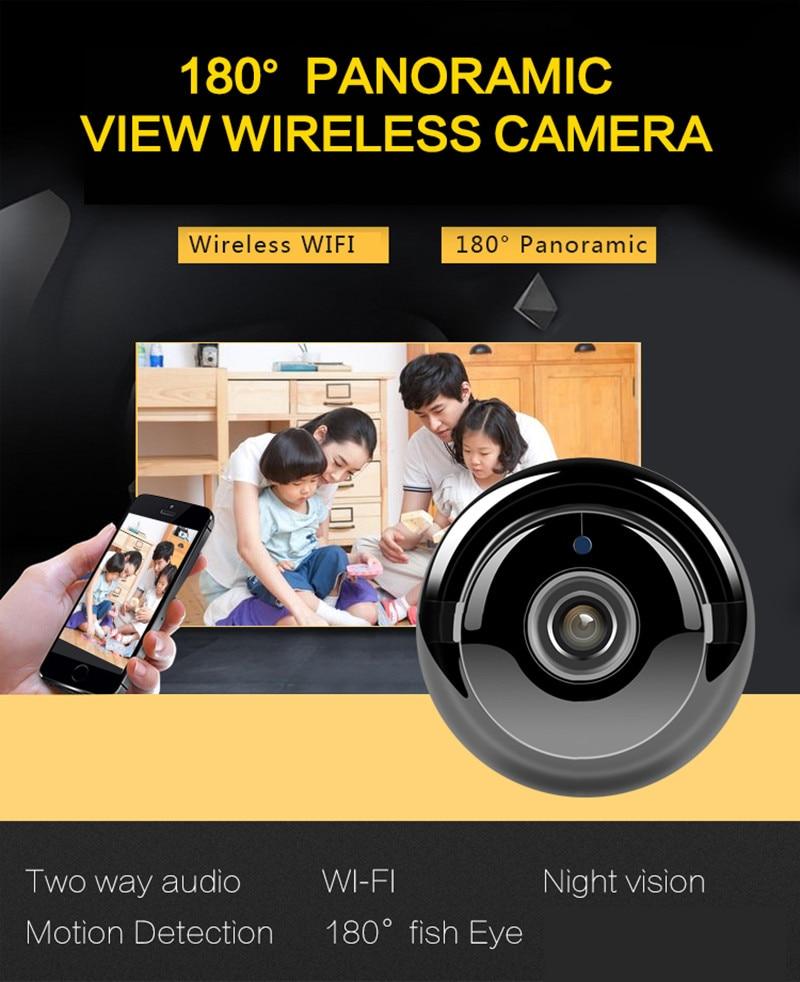 180 derece panoromik görüntü kablosuz kamera. Kablosuz Wifi, 180 derece Panoromik, 2 yönlü ses, hareket algılama, gece görüşü.