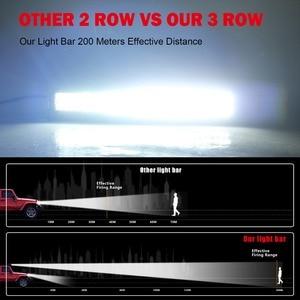 Image 5 - CO światła 3 wiersze 390 W światło terenowe LED Bar 12D 22 cal LED robocza listwa oświetleniowa Flood Spot wiązki 4x4 pasek Led do ATV SUV samochodów ciężarowych 12 V 24 V